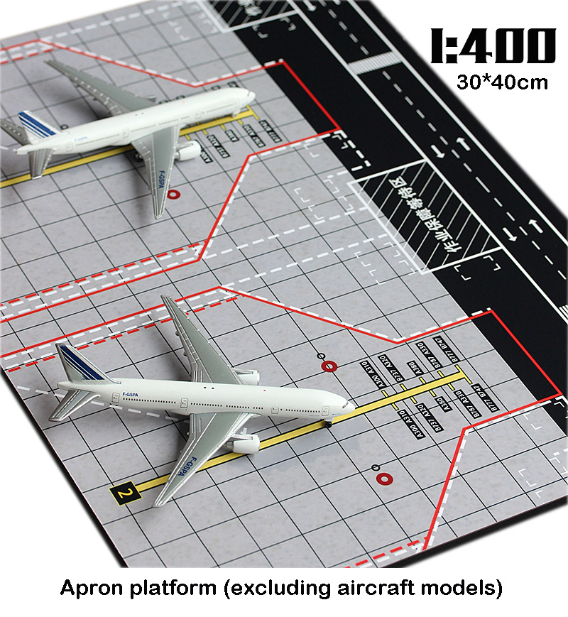 miniature  1:400  Airport  Aircraft apron  Exhibition Platform  Dual seats  woodiness 40*30cm