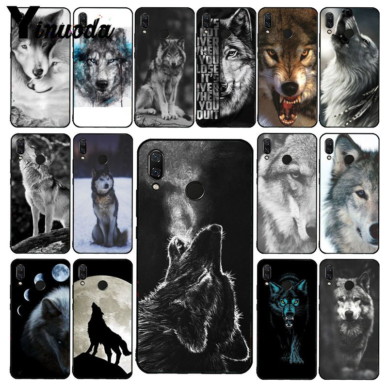 Yinuoda Angry Animal Wolf Face Phone Case For Xiaomi Redmi Note 7 5 4 Redmi 5plus 6A Note8 4X Note8Pro