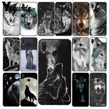 Yinuoda irritado animal lobo rosto caso telefone para xiaomi redmi nota 7 8t redmi 5plus 6a note8 4x note8pro