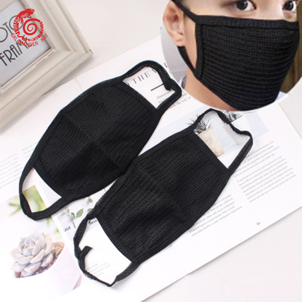Women Men Dustproof Mouth Mask Black Anti-Dust Facial Cover Breathable Face Masks Double Layer Women Men Ear Hanging Covers