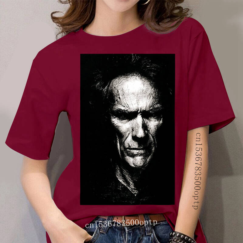 Clint Eastwood T-shirt New women Black or Dark Grey Shirt S To 3XL Manco Blondie Sleeve women T Shirts Fashion Top Tee Plus Size