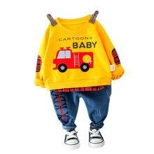 Модная весенне Осенняя детская хлопковая одежда Детская футболка