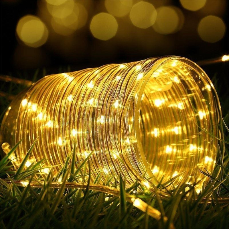 lowest price 12m 100Led Garland Solar String Lights Rope Tube Lighting for Home Garden Christmas Lamp Lawn Decoration Solar Power Lights