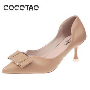 Image 5 - รองเท้าหนังนุ่มรองเท้าผู้หญิงฤดูร้อน 2019 ใหม่JOKERเว็บที่มีชื่อเสียงFairy Diamond PointปากLadle shoes33