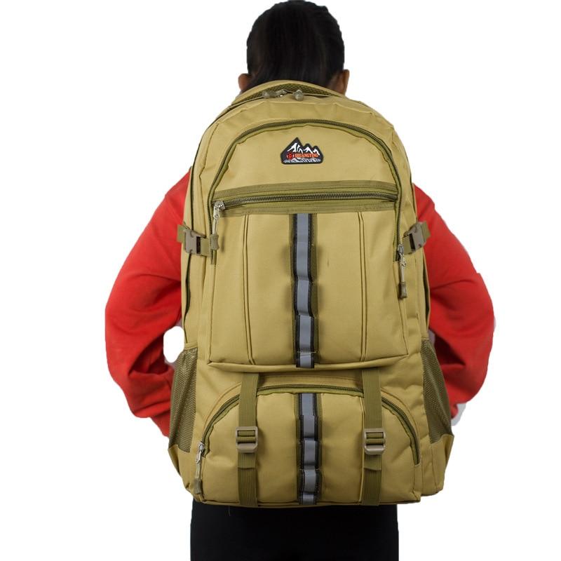 Large-Volume Backpack Men's Waterproof Outdoor Hiking Backpack Large Size Travel Backpack Luggage Work Backpack