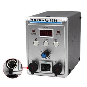 Image 4 - Yarboly 8586 הלחמה תחנת נייד דיגיטלי אוויר חם אקדח BGA עיבוד חוזר הלחמה תחנת האוויר חם מפוח אקדח חום הסרת הלחמה כלי