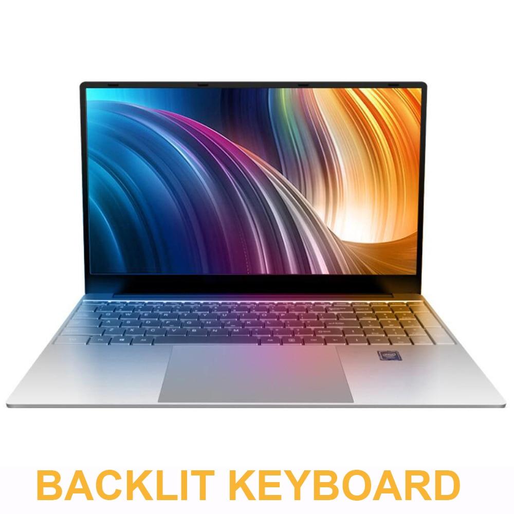 "15.6"" Gaming Laptop With Backlit keyboard 8GB RAM 1TB 512G 256G 128G SSD ROM Notebook Computer Win10 Pro Intel J3455 Ultrabook"