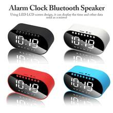 Reloj despertador LED reloj Digital Altavoz Bluetooth inalámbrico compatible con doble alarma/Radio FM/AUX-in/tarjeta TF/unidad Flash(China)