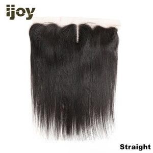 """Image 1 - שיער טבעי 4x13 תחרה פרונטאלית ישר/גוף גל/קינקי קרלי צבע טבעי 8 """" 20"""" M ברזילאי שיער פרונטאלית שאינו רמי IJOY"""