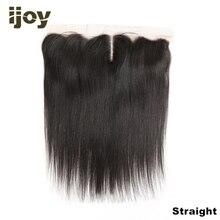 """Cabelo humano 4x13 laço frontal em linha reta/onda do corpo/kinky encaracolado cor natural 8 """" 20"""" m cabelo brasileiro frontal não remy ijoy"""