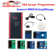 Melhor preço v84 iprog + prog programador iprog v84 suporta immo/correção de quilometragem/airbag redefinir substituir carprog/digiprog/tango