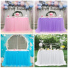 Rectangular mesh gauze birthday party dessert Table Cover Table Cloth Tablecloth For Wedding Party Home Decor Multi-Color/Sizes