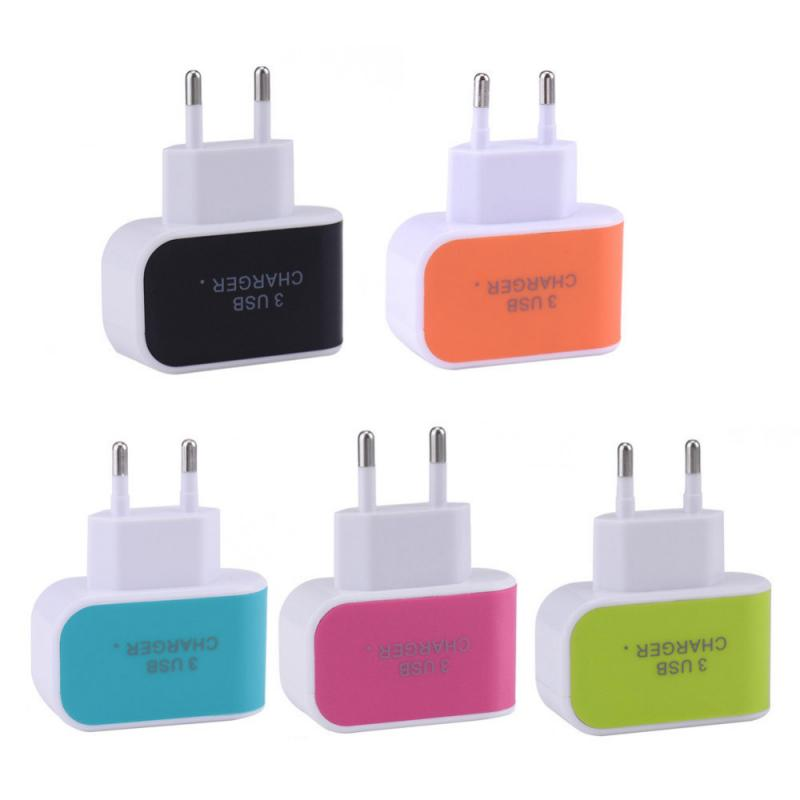 3.1A Quick Charge 3.0 USB Power Ports Charger EU Wall Mobile Phone Charger Adapter For Android Apple Fast Charging