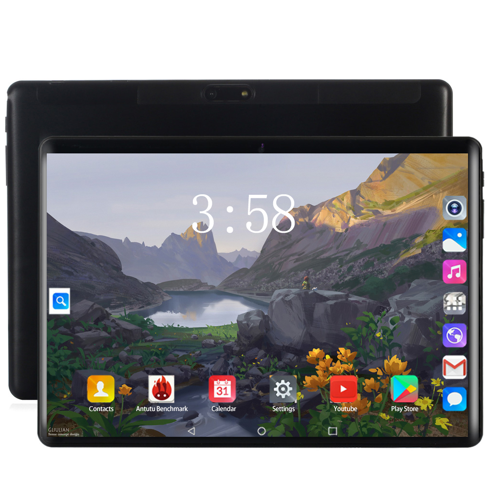 2020 Super Tablet Global Bluetooth Wifi Version Android 8.0 10 Inch Tablet Octa Core 6GB RAM 64GB 128GB ROM 2.5D Screen Tablets