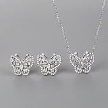 CMajor S925 Sterling Silver Jewelry Butterfly Shape Sweet Set Jewelry for Women Retail and WholesaleSet Jewelry for Women