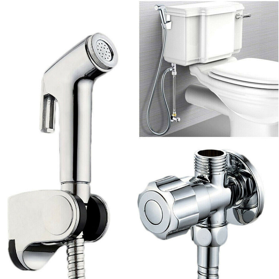 Handheld Toilet Bidet Sprayer Set Kit Stainless Steel Hand Bidet Faucet For Bathroom Hand Sprayer Shower Head Self Cleaning