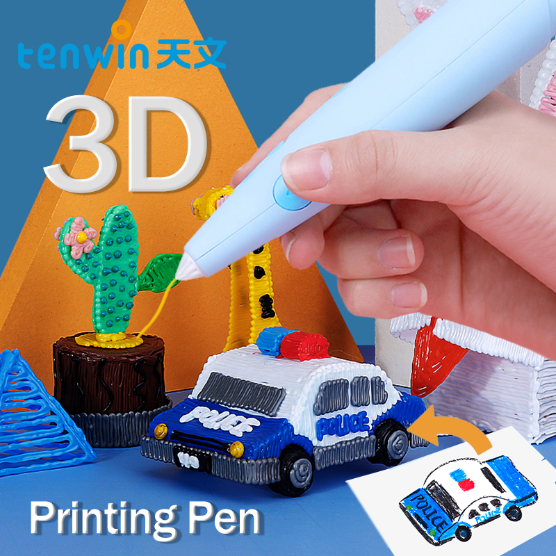Tenwin 7100 3D Printing Pen DIY Printer Pen Kids Graffiti Pen Set Printing Artifact Low Temperature Safety Cultivate Imagination