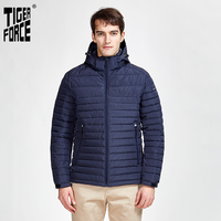 TigerForce2020 Neue Ankunft Jacken Männlichen Hohe Qualität Frühling Herbst Zipper Parkas Unten Jacke Männer Oberbekleidung Casual Mäntel 50629