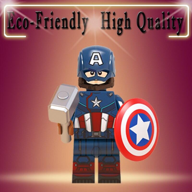 Legoing Avengers Iron Man Captain America Carter Howard Thor Hawkeye Black Panther Gamora Building Blocks Child Toys Gift WM757