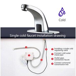 Image 4 - Hot En Koude Automatische Handen Touch Gratis Sensor Kraan Badkamer Wastafel Tap Badkamer Kraan Water Mixer Kraan FYG334