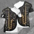 Hipster саксофоны футболка 3D Мужская футболка с рисунком/Для женщин Ropa Повседневное в готическом стиле, уличная одежда с О-образным вырезом Фут...