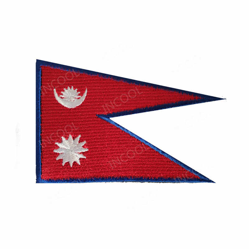 Brunei Sri Lanka Maldives Kazakhstan Nepal Palestine Kuwait Thailand Malaysia Laos National Flag Embroidered Patches Flag Badges