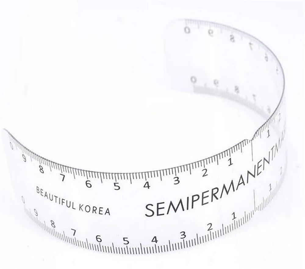 1pcs Permanent Makeup  Rectangle Eyebrow Ruler Measurement Plastic Tool Microblading Ruler Tattoo Accessories