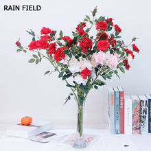 Artificial Flower Rose Exquisite Fake Wedding Home Living Room Party Decoration Quality Eternal