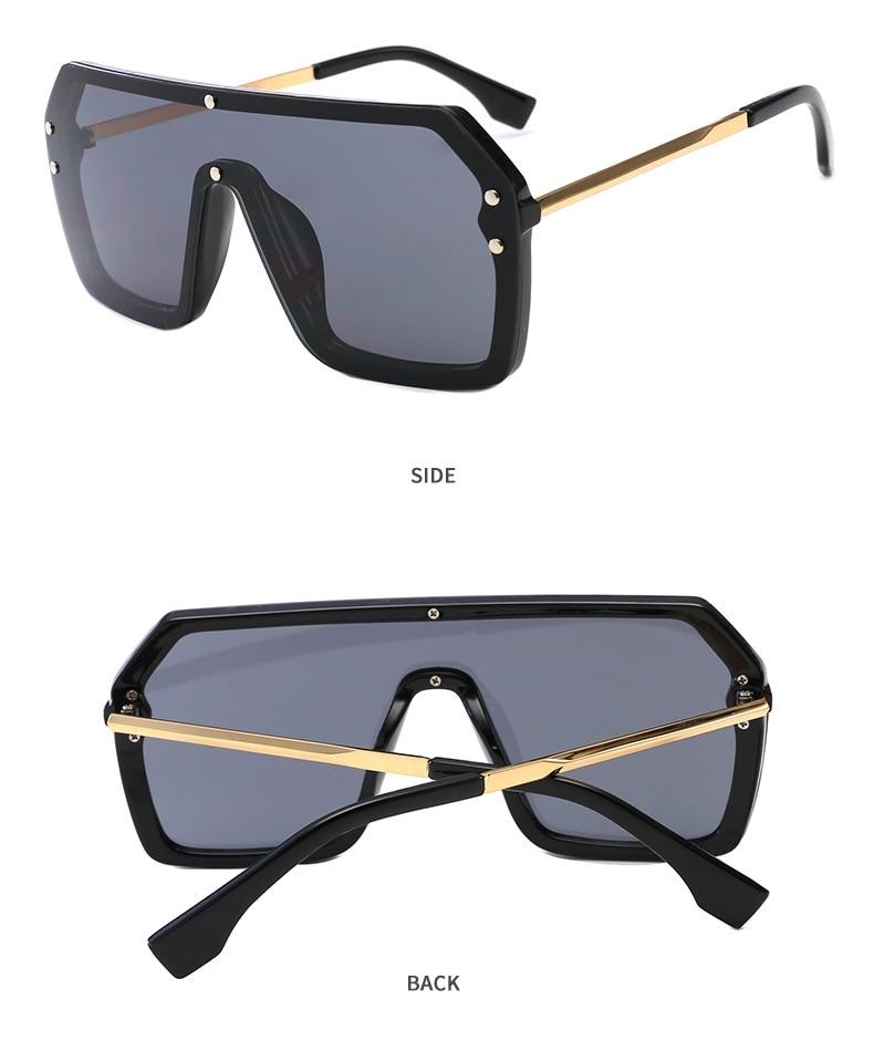 Luxury Brand Women's Sunglasses 2021 Trend One-Piece Lens Rimless Sunglass Female Designer Retro Sun Glasses For Women Gradient (7)