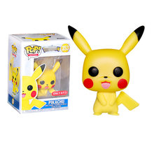 купить POP Anime Cartoon Pokemones Pikachu Vinyl Action Figures brinquedos Collection Model Toys for Children Christmas gift по цене 911.19 рублей