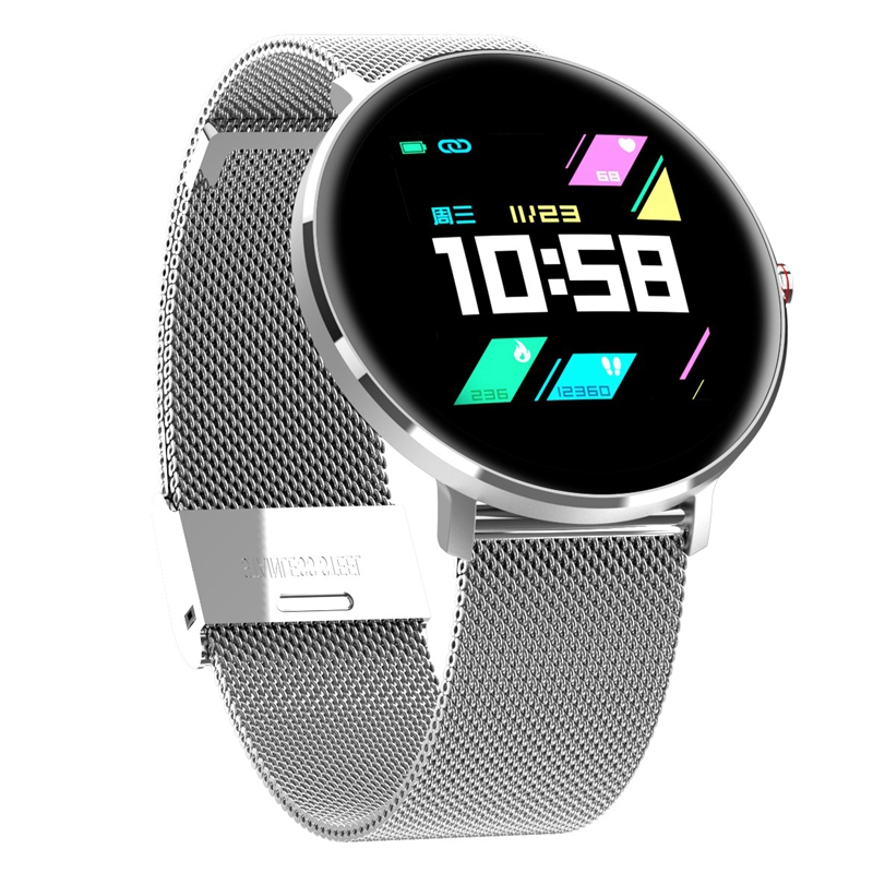 L10 1.3 Inch IPS 8 Sports Mode IP68 Multi-Language Display HR Blood Pressure Fitness Smart Watch
