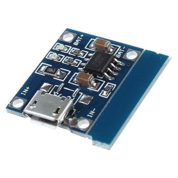 Micro-USB 1A Li-Ion 18650 Lithium Battery Charger Charging TP4056 Module Board image