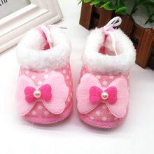 Зимняя бархатная обувь в горошек для маленьких девочек; Милые