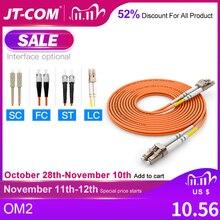 Cable de fibra de LC LC OM2 dúplex multimodo, Cable de parche de fibra óptica de 2,0 y 3,0mm, LC FC LC SC, 10 Uds.