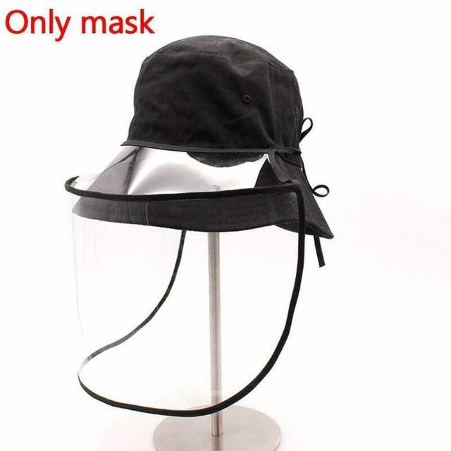 1pcs Clear Full Face Shield Hat-Mounted Transparent Mask Protective Cap Face Mask Plastic Anti-fog Saliva 4