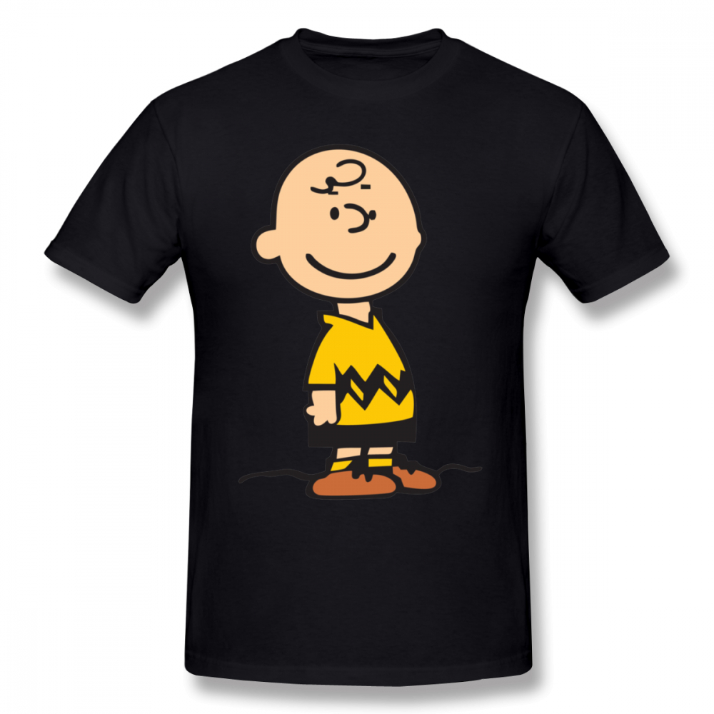 Charlie Brown T Shirt Charlie Brown Merchendise T-Shirt Short Sleeves Cute Tee Shirt Plus Size Printed 100% Cotton Tshirt