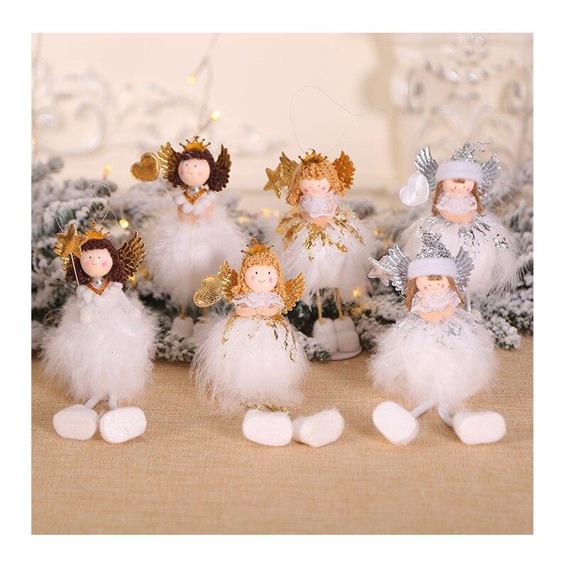 Рождественский милый белый Ангел/Рождественская кукла/настольное окно креативное украшение/Рождественская елка украшение кулон/детские п...