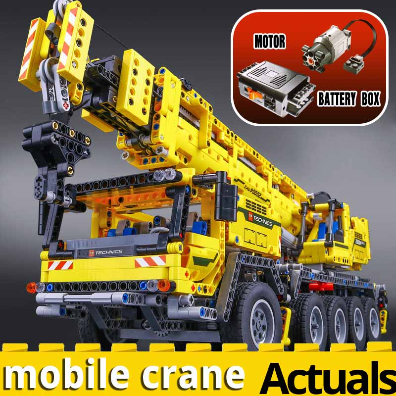20004 <font><b>Technic</b></font> Motor Power Mobile Crane Mk II Model Building Kits Blocks Bricks compatible with <font><b>legoinglys</b></font> <font><b>42009</b></font> Christmas toys image