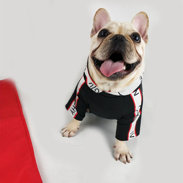 Fashion Dog Clothes for Small Dogs Cotton Hoodies for French Bulldog Outfit for Chihuahua Letter Print Pet Puppy Costume PC0914 1