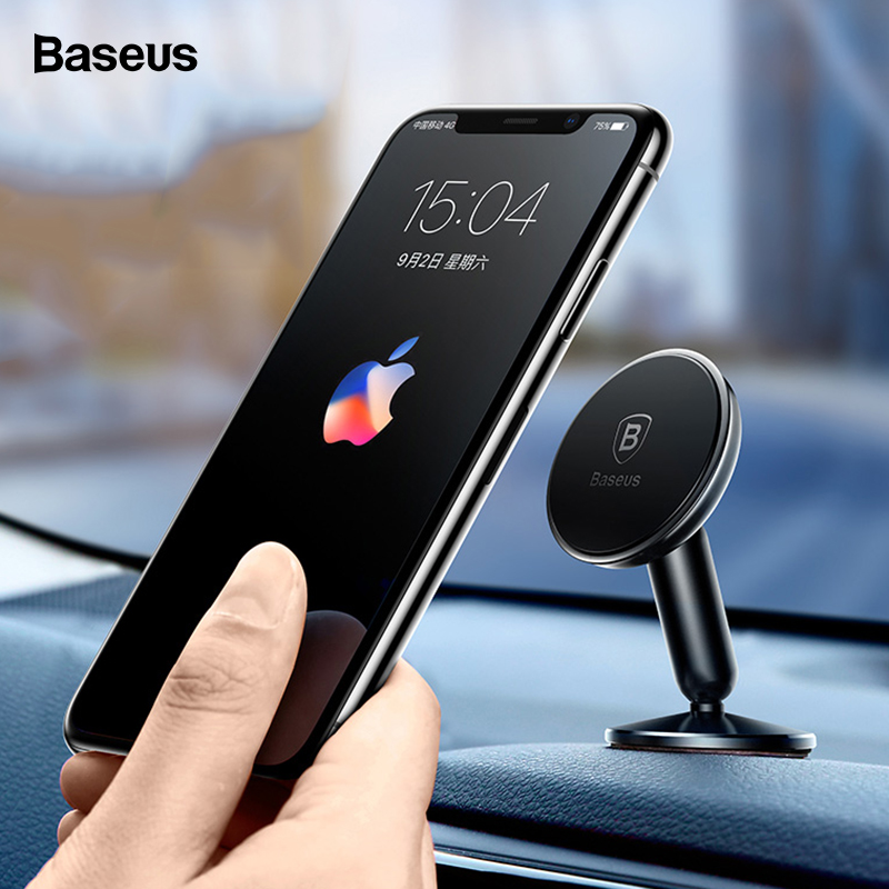 Baseus Magnetic Car Phone Holder For IPhone 11 Pro Max Samsung Note 10 Magnet Holder For Phone In Car Mobile Phone Holder Stand