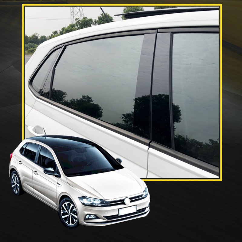 Window Pillar Sticker Trim For 2019 2020 Volkswagen Polo Car Accessories Styling