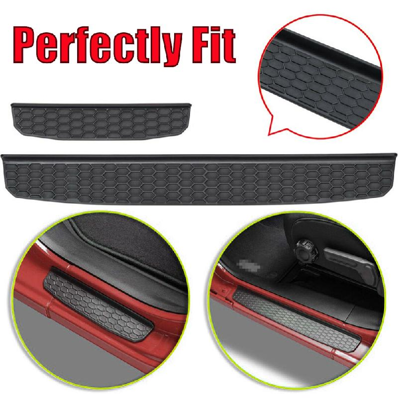 MTAWD Stainless Car Door Sill Scuff Plate Kick Protectors for Mitsubishi Eclipse Cross 2019