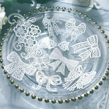 KLJUYP 10pcs White Lace Bowknot Papers For DIY Scrapbooking/Card Making/Kids Fun Decoration Supplies 1