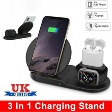 3 in 1 10W Fast Wireless Charger Dock Station Fast Charging For iPhone XR XS Max 8 for Apple Watch 2 3 4 For AirPods For Samsung accezz 3 in 1 10w 7 5w qi fast wireless phone charger for iphone 8 plus x xs max xr for airpods for samsung lighting charging