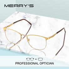 MERRYS DESIGN Men Luxury Prescription Glasses Fashion Myopia