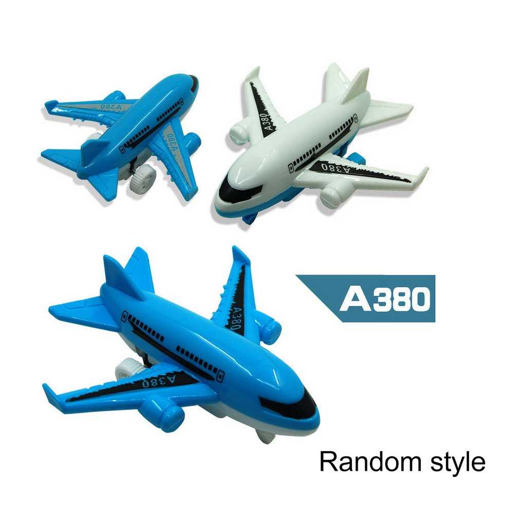 2019 HOT A380 Pull Back Aircraft Resistant To Falling Infant Toys Small Aircraft