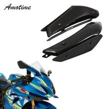Spoilers downforce aerodinâmica asa kit fixo winglet carenagem asa para suzuki gsxr600 750 1000 l1 k11 l9 gsxr1000
