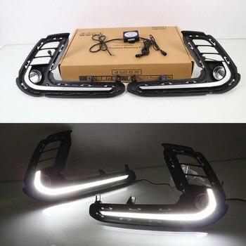 July King LED Light Guide Daytime Running Lights Case for Hyundai Elantra 2017-2019, LED Front Bumper DRL, Fast Shipping