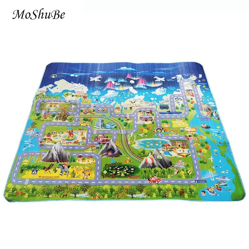 Single Sided Baby Crawling Mat City Urban Game Kids Rug 2*1.8m Children's Carpet Waterproof Gym Play Mat Foam Soft Floor Toys