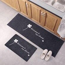 Lavável antiderrapante longo cozinha tapete de chão do banheiro entrada porta tapete quarto sala de estar cabeceira tapetes